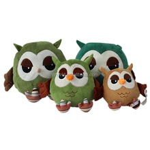 wholesale stuffed big eyed plush toys owl for baby