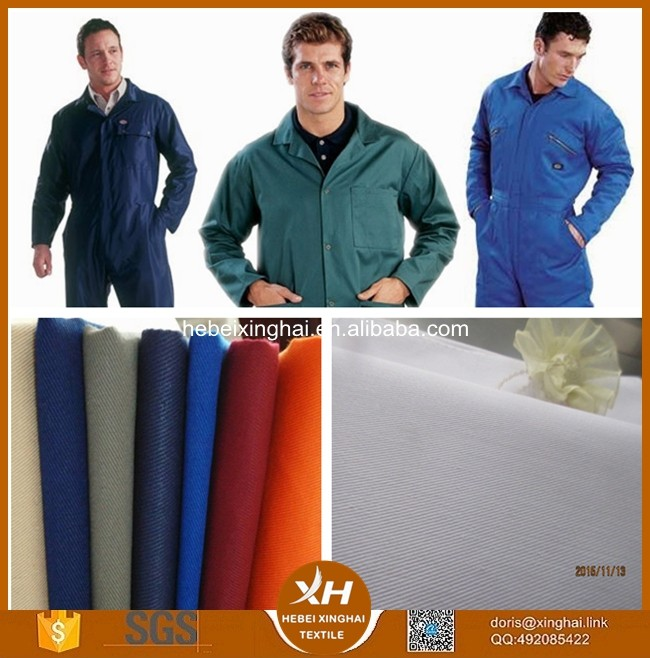 Functional Woven Techniques cotton polyester fabric for Workwear