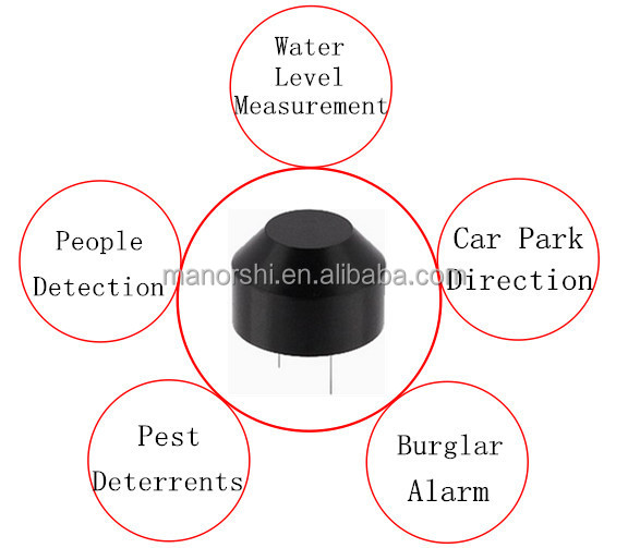 MSW-A1840H12TR 18mm 40khz Black Plastic Ultrasonic Sensor For Dog Repeller Ultrasonic Transducer