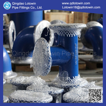 Custom Made DI Pipe Fittings Anti-Corrosion Surface Coating All Flange Tee for Water Plant Pumping Station