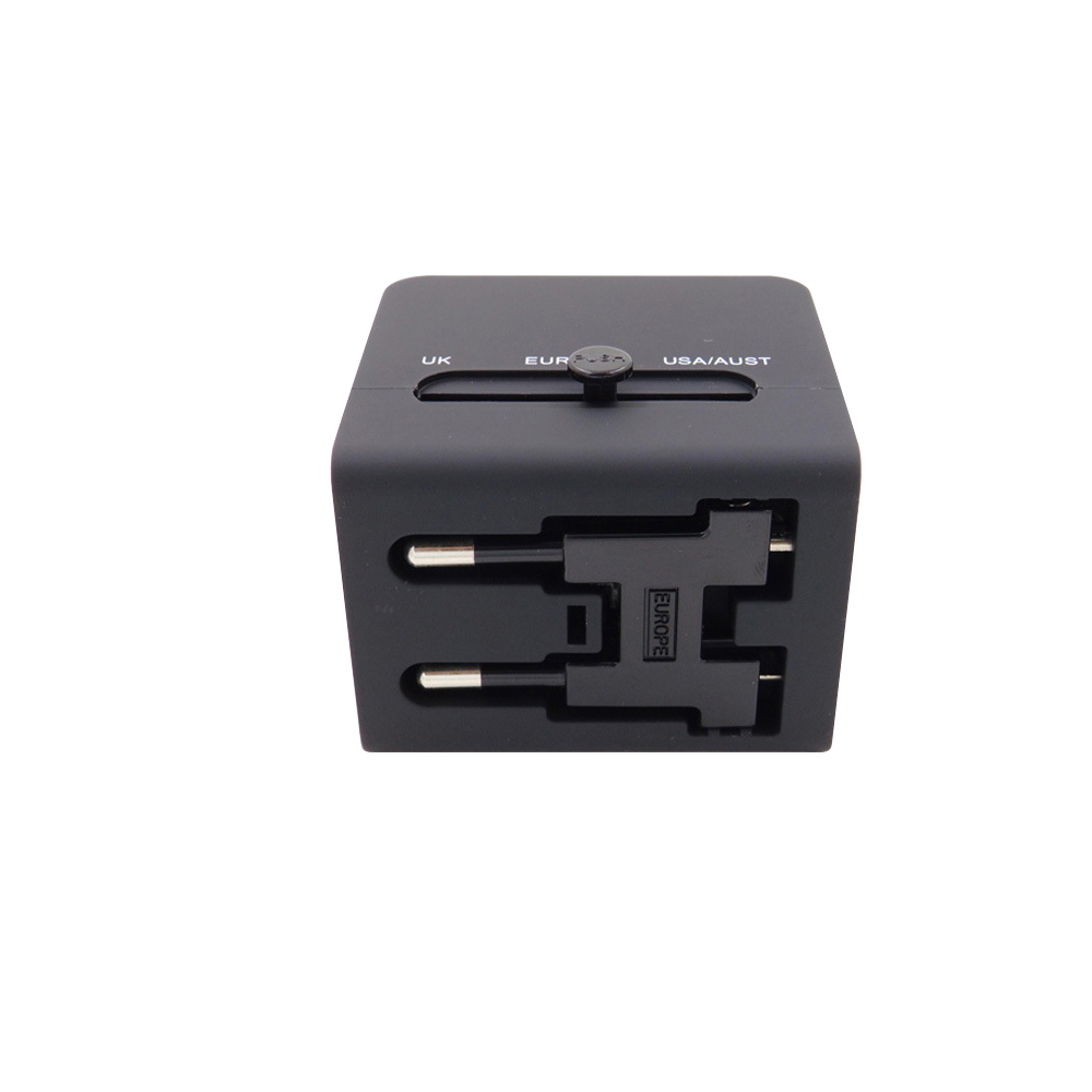 Upgrade Design Universal Travel Adapter 2 USB Conversion Socket/Multifunctional Power Plug/Global use