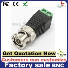Wholesale CCTV BNC Male Connector With Screw Green Change 2Pin Terminals