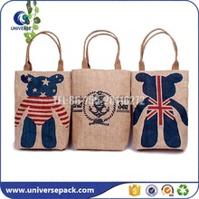 High Quality Custom Printed Burlap Shopping Bags With Handle