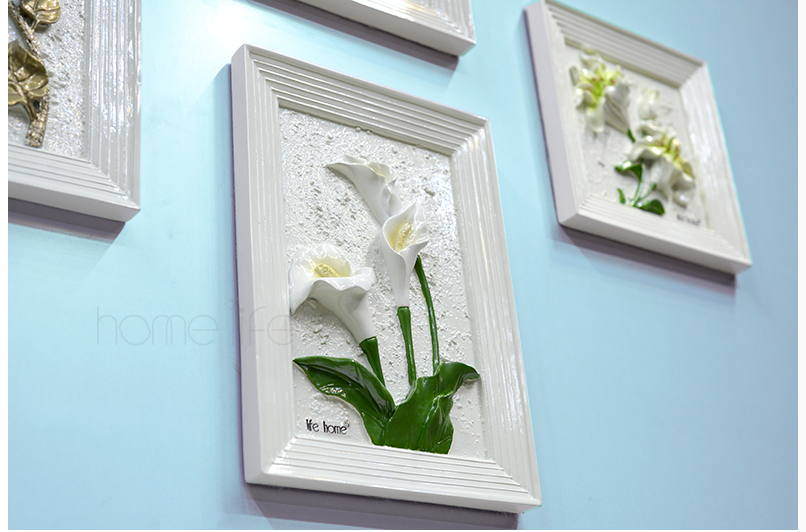 China supplier other home decor polyresin imitation flower wall crafts