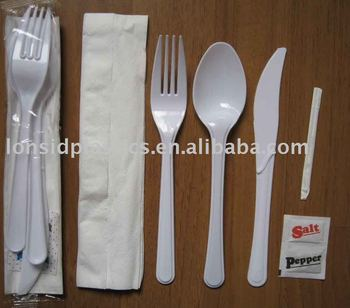 5.5g Heavy Weight Disposable Plastic Tableware Sets Knife fork spoon