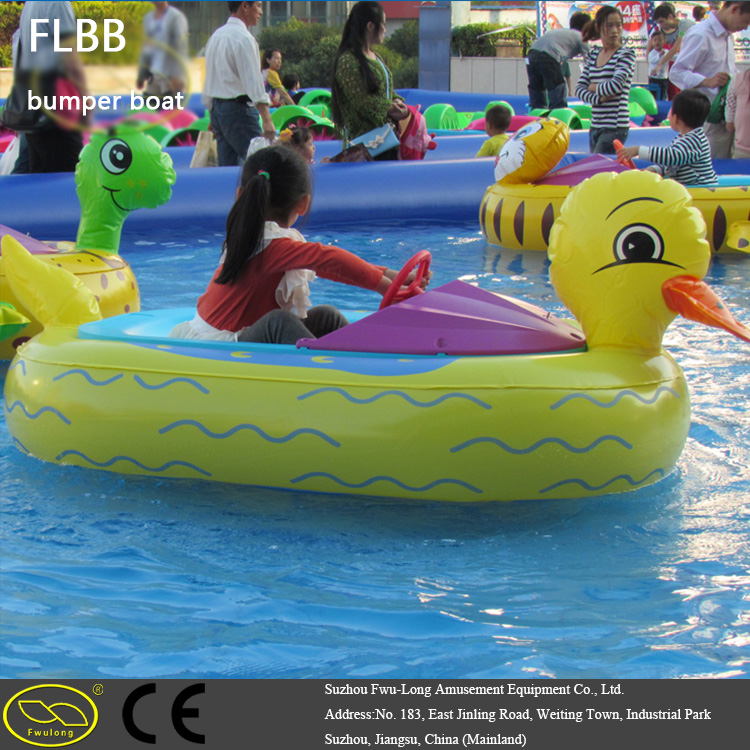 Rechargeable battery recreational bathing inflatable bumper boat for kid