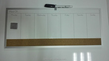 Office & school aluminum frame weekly planner magnetic dry erase board / cork board