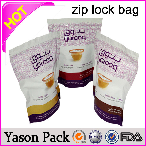 Yason hot plastic zipper storage bags reclosable brining bag with double zipper pet food packaging with zipper top