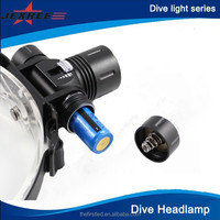 Stepless Dimming Diving Flashlight Max 1000-Lumen XM-L T6 Dive Headlamp