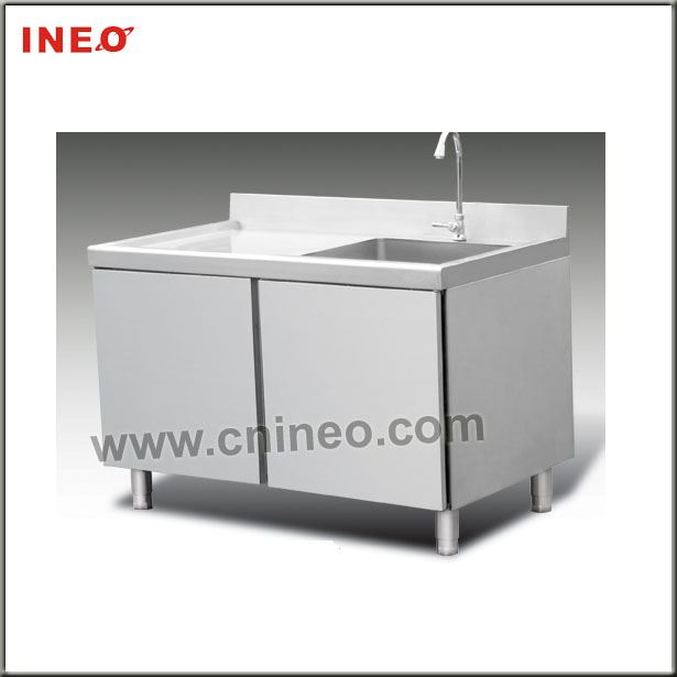 metal kitchen sink base cabinet/stainless steel kitchen sink cabinet/single bowl stainless steel sink with drainboard