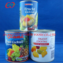425/850/2650ml can size canned fruit cocktail in light syrup