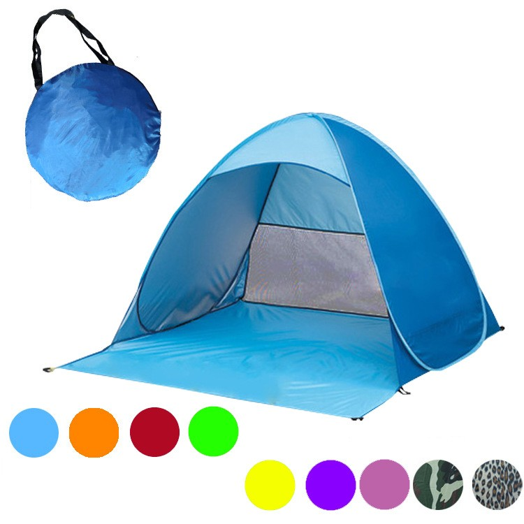 nonwoven fabric Outdoor Camping Tent Single Layer Family Travel Hiking Automatic Pop-up Shelter Play Tent
