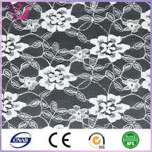Mesh fabric type nylon spandex material gold/silver thread lace fabric