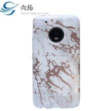 2018 Treanding Marble Printing Phones Case Soft and Scratching Resistant TPU Mobile Cover Case Cover For Moto G5 Plus