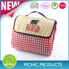 Dotex fold up cheap price portable two layers waterproof picnic blanket 100%polyester travel rug
