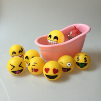 Novelty Emoji Baby Bath Toys LED Flashing Light Floating Bath Toys