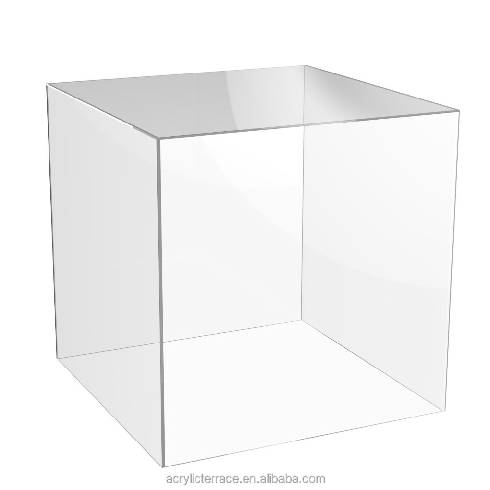 30 x30 one open side clear acrylic cube boxes buy clear acrylic storage boxes acrylic display. Black Bedroom Furniture Sets. Home Design Ideas