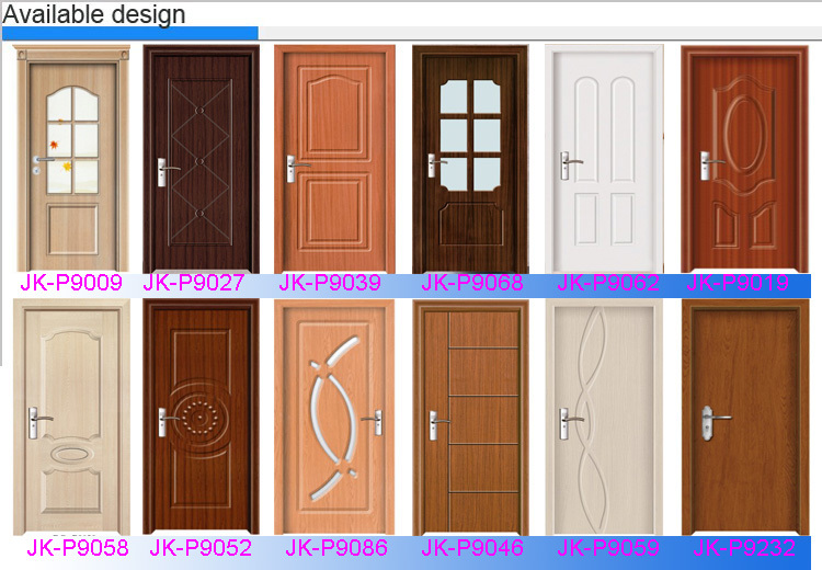 Bathroom Doors Plastic jk-p9055 jiekai pvc decoration film for door / toilet pvc door