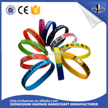 manufacturer long-term supply brand new silicone wrist band for corporate anniversary gifts