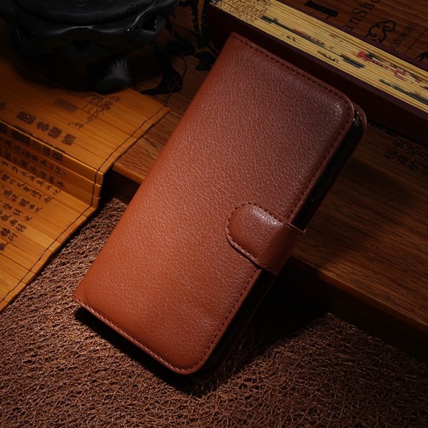 S5004 Factory Wholesale Price Card Slots Cell Phone Magnet Flip Leather Case for Samsung Galaxy S5 i9600