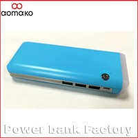 LP-502 Flashlight 3 usb power bank high quality large capacity real 10000 13000mah li-ion external battery charger