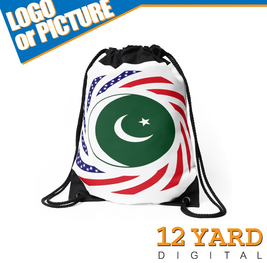 Pakistan national popular football sport shopping drawstring bag for men and women