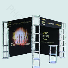 portable and collapsible aluminium truss used trade show display booth