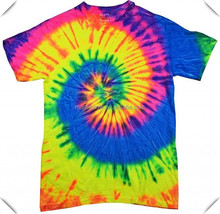 Trendy Tee Colorful Cotton Retro Swirl Spiral Mania Adult Disco Tie Dye Shirt,Tie Dye Mania Adult T- Shirt custom in China