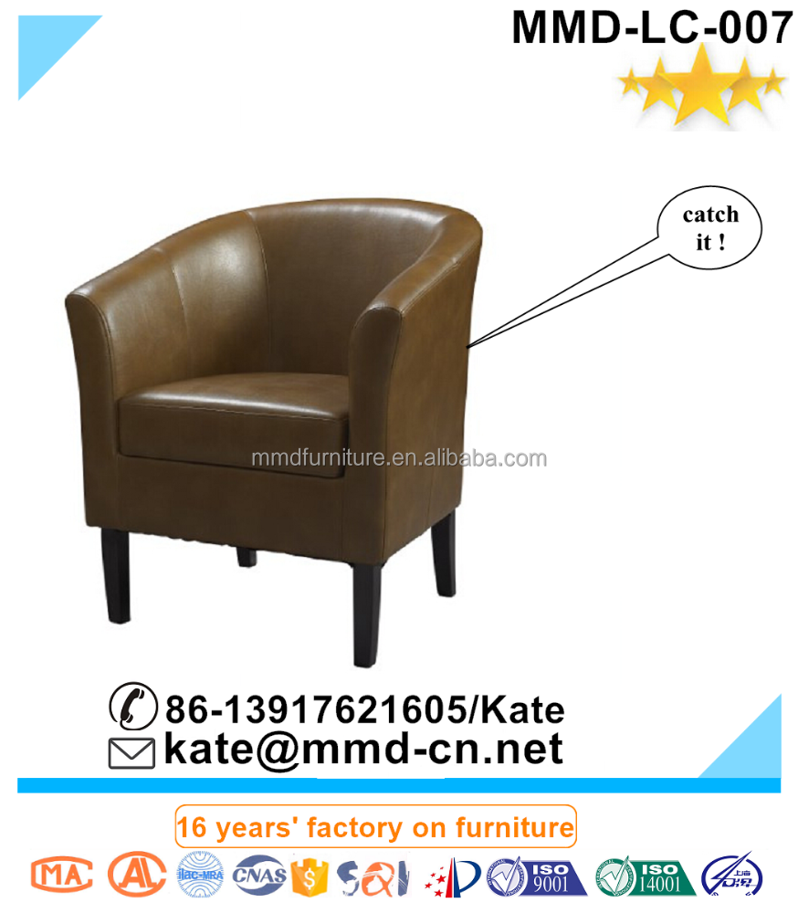 Best Quality Leather Leisure Club Chair With Soft Seat