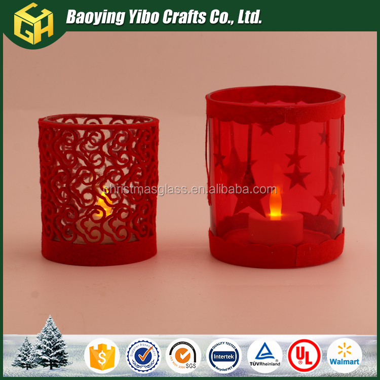 Crystal decorative glass wedding candle holder
