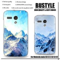 A+ Good Quality Phone Cover Snow Mountain Design Mobile Phone Case For Motorola moto G3 G X E G2 X2 E2