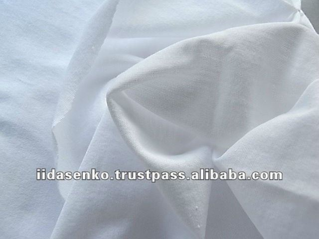 White Jersey Stitch 100% Cotton Fabric for making bed sheets