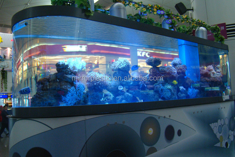 Acrylic Fish Tank for Super Market Decoration