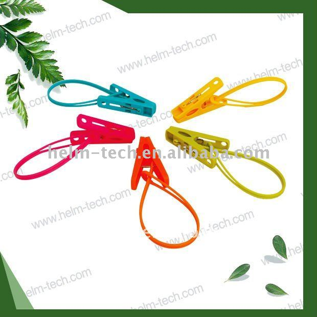 Small plastic rope clips pegs