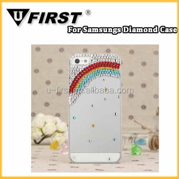 Transparent Diamond case;Rainbow Rhinestone phone Case;Jewel Cases for iPhone6/6s;Crystal Cell Phone Case For iPhone