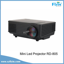 Multimedia RD-805 Equipped with HDMI /AV/VGA/SD/USB High Performance Home cinema led Mini projector