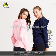 BELLA-C-42029 sport hoodie blank with waterproof zipper