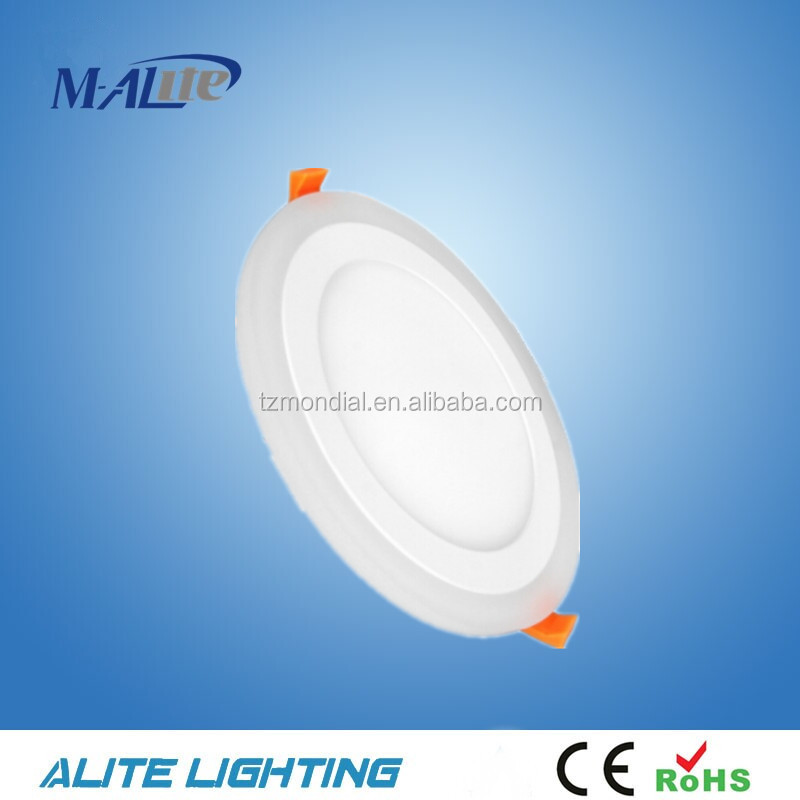 ROUND DOUBLE COLORS RECESSED LED PANEL LIGHT 3+3W SMD2835