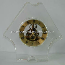 Clear Crystal Desk Table Clock/Decoration Glass Clock/Clock/Cryatsl