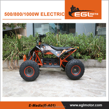Orange Plastic Cheap 500W Electric ATV quad
