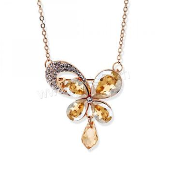 Butterfly shaped pendants Austrian crystal preciosa crystals Necklace for women 1295750