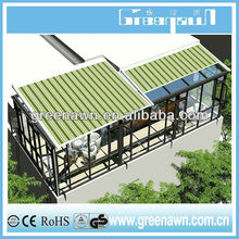 Durable aluminum pergola/retractable roof/awning mechanism