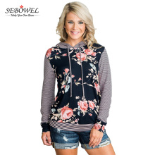 Professional Ladies Long Sleeve Floral Printed Women's Fashion Tops