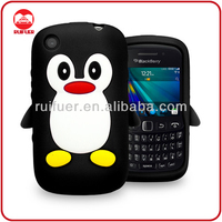 Wholesale Soft 3D Penguin Silicon Case for Blackberry Curve 9220 9320