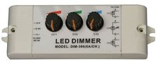 3 channel led constant voltage dimmer,DC10-30V input,6A each channel output