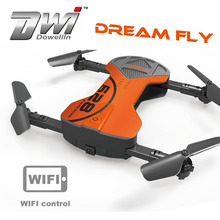DWI Dowellin Pocket Drone WIFI FPV Foldable Drone Similar Wingsland S6 with Camera