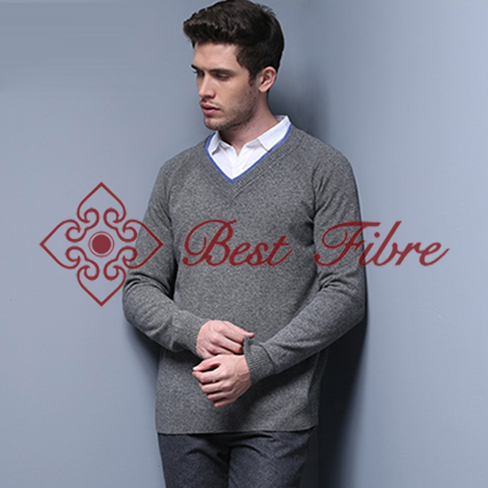 Yak down V-neck pullover/winter knitting sweater match cashmire