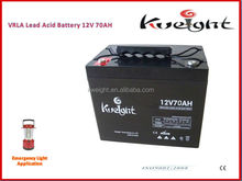 Sealed Lead Acid Nano Gel Battery 12v 70ah