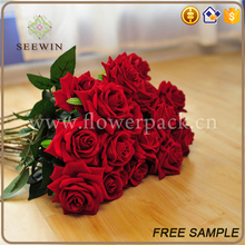 hotsale plastic fabric beautiful artificial flowers for wedding decoration
