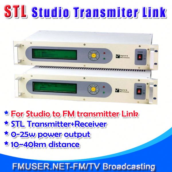 FMUSER STL10 Studio to radio transmission equipment for FM Radio Station 10-40km Studio to Transmitter Hill-RC4
